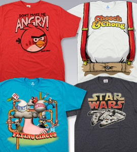 Pop Culture T-Shirts, Tees, Tie-Dyes