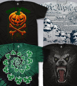 Holiday T-Shirts, Tees, Tie-Dyes